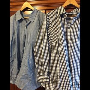 2 Blouses Liz/Lands End Blue Size 3X